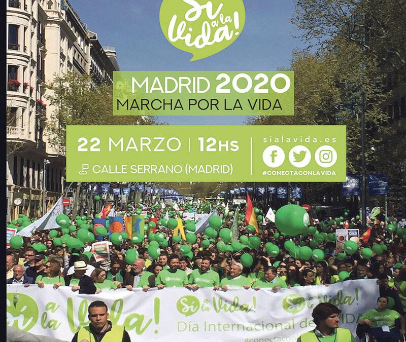 Gran marcha por la vida en Madrid, el domingo 22 Organizada por la plataforma 'Sí a la vida'