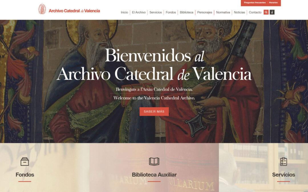 El archivo de la Catedral estrena web Incluye entre sus secciones el cuadro de clasificación de los fondos que integran el archivo