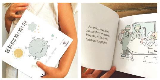 'Un bichito muy, muy feo', un cuento para explicar la covid-19 a los más pequeños La diseñadora gráfica valenciana Gómez de Lechón, lo hizo pensando en su hija