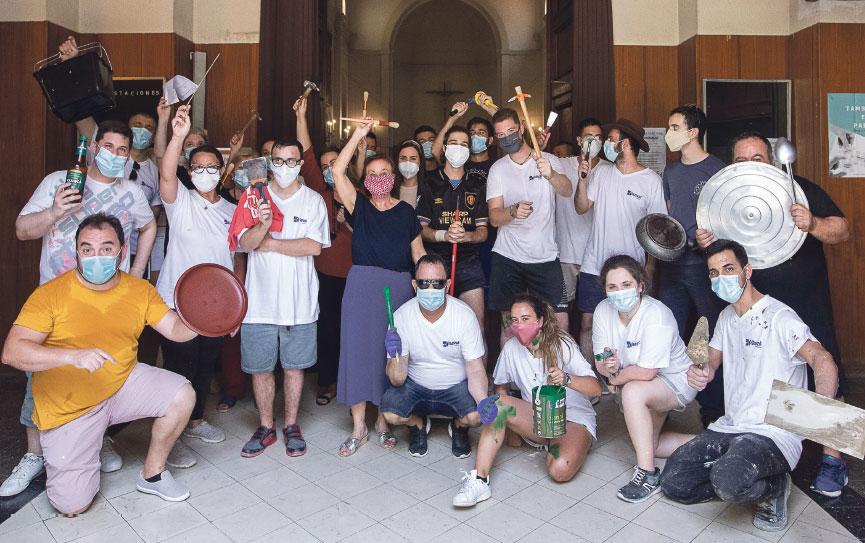 Un verano en la ciudad 200 jóvenes de San Pascual Baylón la pintan y reparan  voluntariamente al suspenderse sus campamentos por la pandemia