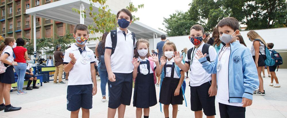Una vuelta al cole con ilusión pese a la pandemia Los protocolos sanitarios marca el inicio del nuevo curso escolar