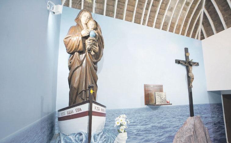 Valencia estrena capilla marinera En la parroquia de la Buena Guía ante la playa del Cabanyal, que dará servicio también a migrantes y turistas