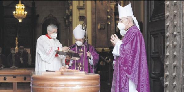 «Ha sido un siervo y servidor del Señor fiel, y un compañero y hermano admirable» El Cardenal, en la misa exequial por Fernando Salom  canónigo de honor de la catedral de Valencia