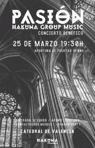 Reza y canta con 'Pasión', el vía crucis de Hakuna  El próximo 25 de marzo a las 19:30 h. en la catedral de Valencia