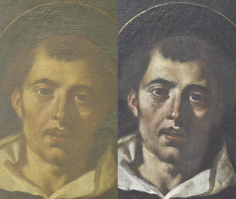 Restauran un óleo de S. Vicente del s. XVII e identifican al autor Los resultados de los estudios analíticos así como de la  investigación histórico-artística terminaron por conceder la atribución al pintor valentino del siglo XVII Jerónimo Jacinto Espinosa