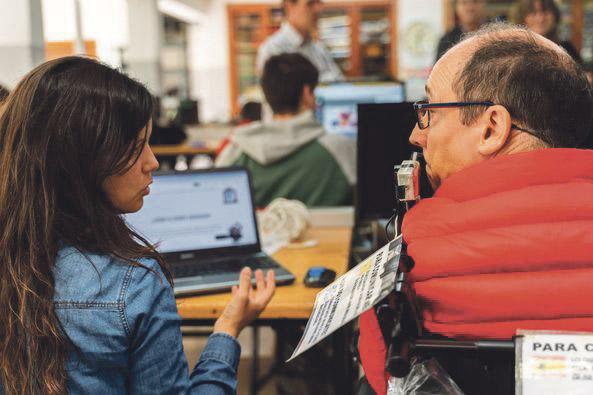 Aprendizaje basado en proyectos con fin social Alumnos de las Escuelas San José de Valencia colaboran, mediante formación en FP Dual, con el Card Capacitas UCV y la residencia Pepe Alba CODIFIVA