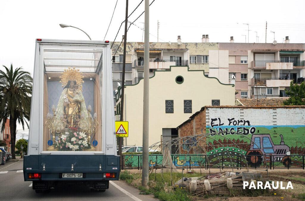 """""""Això és de veres? No m'ho puc creure!"""" La Virgen recorre en cinco días poblaciones del área metropolitana de Valencia"""