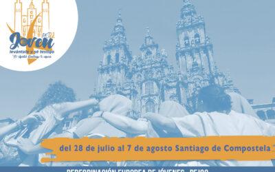 Únete a la Peregrinación Europea de Jóvenes 2022 a Santiago de Compostela La diócesis de Valencia se une a esta iniciativa convocada por la archidiócesis de Santiago y organizada de forma conjunta con la Subcomisión de Juventud e Infancia de la Conferencia Episcopal Española