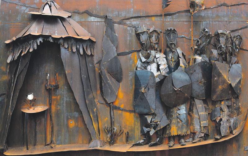 Arte moderno para el Santo Cáliz El artista valenciano Antonio Peris Carbonell ha elaborado dos esculturas de gran formato dedicadas al Santo Cáliz