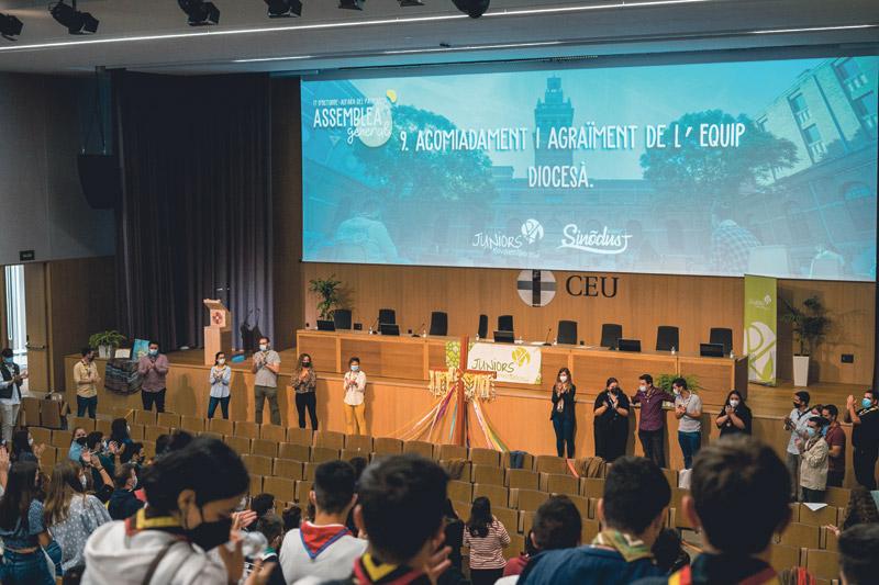 Luis Albors, reelegido presidente de Juniors M.D.  Durante la Asamblea General del movimiento  diocesano celebrada en Alfara del Patriarca